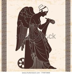 Find Ancient Greek Goddess Nemesis Wings Sits stock images in HD and millions of other royalty-free stock photos, illustrations and vectors in the Shutterstock collection. Justice Tarot, Goddess Art, Vintage Drawing, Greek Art, Beige Background, Greek Mythology, Ancient Greek, Wall Murals, Art Drawings