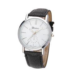 2017 Best Sell!!watches women Luxury Brand Unisex Casual  PU Leather Analog Quartz Vogue bracelet Wrist Watch relogio #Affiliate