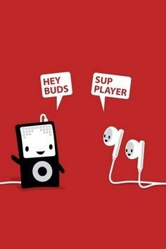Funny Pun: Hey Buds, Sup Player - Music Humor - Punny picture Punny Puns, Cute Puns, Whatsapp Dp, Funny Quotes, Funny Memes, Hilarious, Doug Funnie, Music Humor, Funny Music