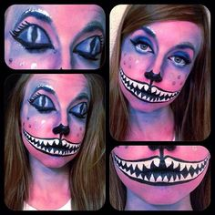 Pin for Later: 26 Women Who Took Their Disney Halloween Costumes to the Next Level Cheshire Cat, Alice in Wonderland Disney Halloween Makeup, Halloween Inspo, Halloween Makeup Looks, Halloween Make Up, Halloween Party, Disney Makeup, Halloween 2016, Halloween Crafts, Cheshire Cat Makeup