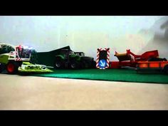 Bruder Truck Tamiya agriculture machines and bruder tractors in playground