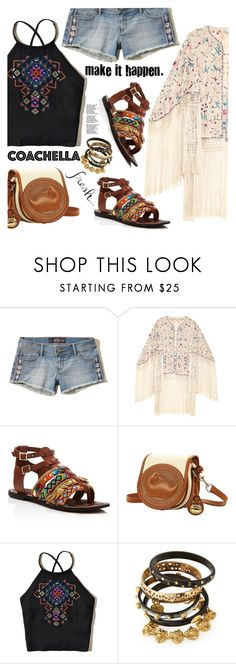Boho Style by gabrilungu on Polyvore featuring Hollister Co., Sam Edelman, Dooney & Bourke, Ashley Pittman, Talitha and bestofcoachella