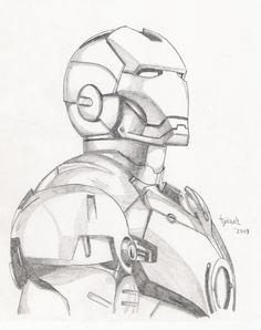 Iron Man sketch by TyndallsQuest