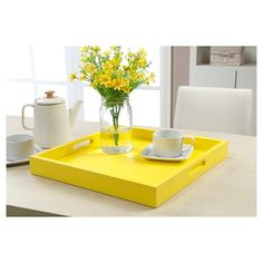 Palm Beach Tray - Yellow - Convenience Concepts : Target