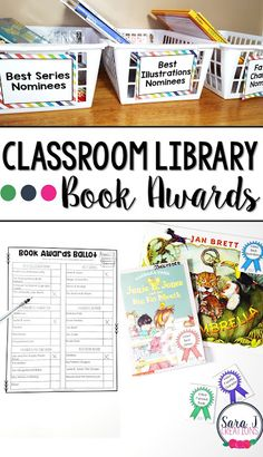 Great idea for using your classroom library to create book awards for some of your favorite books. Class Library, Library Lessons, Library Books, Teaching First Grade, Teaching Kindergarten, Teaching Reading, Teaching Ideas, Best Mystery Books, Catholic Kids