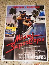 U9 MANIFESTO ORIGINALE 4F MIAMI SUPERCOPS TERENCE HILL BUD SPENCER