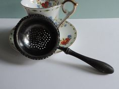 Antique 1800's Tea Steeper English Silver by used2bnewVintage