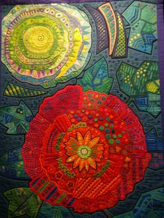 Detail of Fumiko Nakayama quilt