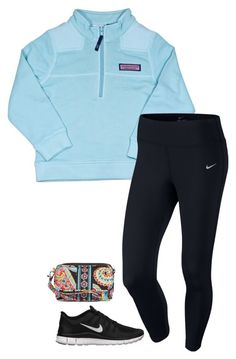 """""""lazy outfit"""" by sassy-and-southern ❤ liked on Polyvore featuring mode, Vineyard Vines, NIKE en Vera Bradley"""