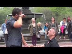 Carl and Drew's Flash Mob Marriage Proposal in Central Park.....LOVE  IS LOVE no matter and WE ALL deserve to be happy.NO one should have the right to judge another person or couple,when it comes to LOVE. Let us live,let us love,let us marry.