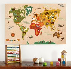 I totally have this plan to make world map something - even have the fabric - just need the time!