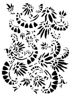 THE SHAPE OF THE HEART    stencil pattern to download from Alabama Chanin Stencils, Stencil Fabric, Stencil Patterns, Stencil Art, Stencil Designs, Print Patterns, Damask Stencil, Floral Patterns, Crop Pictures