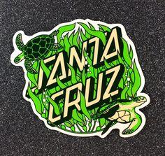 Santa Cruz Stickers, Santa Cruz Logo, Skate Surf, Hand Logo, Men Design, Cool Stickers, Shopper, Borneo, Skateboarding