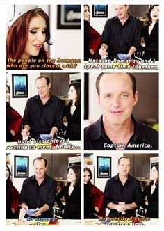 Coulson fangirling < No, I'm pretty sure that's Clark Gregg fangirling, and just pretending that it's Coulson.