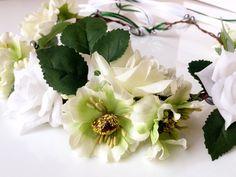 Headpieces & Fascinators - Blumenkranz **NOVA** NEU 2018 Midsommar grün - ein Designerstück von Lebenslust2in1 bei DaWanda