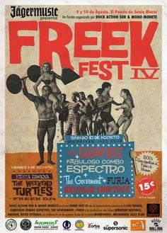 Vuelve el sarao del verano. La bienal Freek Fest IV. Música y diversión a raudales. La sala Milwaukee y Mondongo Bar acogerán las salvajes actuaciones de Los Twangs, Fabuloso Combo Espectro, The Goverment, Salvaje Montoya y Furia.