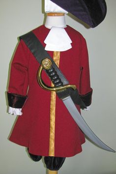 Child's Captain Hook Costume Custom Made by NeverbugCreations, $400.00