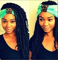 I love this style sooo much! Headband and all! #protectivestyle #ihatedoingmyhairnow