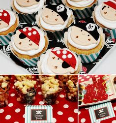 Ahoy Matey! Adorable Pirate Birthday Party! Love love the cherry's as cannon balls, idea