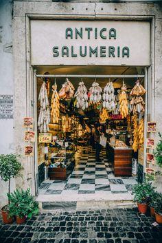 Visiting Rome, Italy with Insight Vacations - Healthy Living - Visit to Rome, Italy with Insight Vacations - Restaurant Design, Restaurant Bar, Mini Mercado, Deli Shop, Italian Deli, Cheese Shop, Cheese Bar, Butcher Shop, Shop Fronts