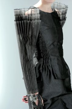 Fashion Architecture - sculptural sleeve detail structured fashion; wearable art // Chanel haute couture