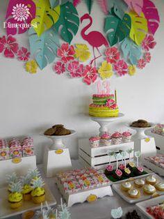 Dimequesi 's Birthday / Flamingos - Photo Gallery at Catch My Party Girl Birthday Themes, Happy Birthday Parties, Birthday Decorations, Flamingo Birthday, Flamingo Party, Laser Tag Birthday, Party Organisers, Aloha Party, Luau Theme