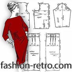 Dress Making Patterns, Skirt Patterns Sewing, Barbie Patterns, Vogue Sewing Patterns, Vintage Sewing Patterns, Clothing Patterns, Diy Fashion, Retro Fashion, Patron Vintage