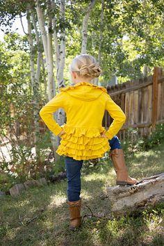 Ruffle Layering Jacket | Jane