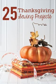 Sewing Bags Project 25 Thanksgiving Sewing Projects - 25 Thanksgiving sewing ideas perfect for Fall. Get in the mood for Autumn with these 25 fantastic free sewing patterns and tutorials Fall Sewing Projects, Sewing Projects For Beginners, Sewing Crafts, Sewing Blogs, Sewing Hacks, Sewing Tips, Sewing Ideas, Sewing Tutorials, Thanksgiving Projects