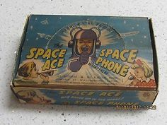Vintage Lone Star Space Ace Space Phone Walki-Talki Toy Set 1950s Rare Boxed