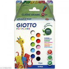 Plastilina Patplume Giotto - Surtido clásico - 10 x 20 g - Fotografía n°1