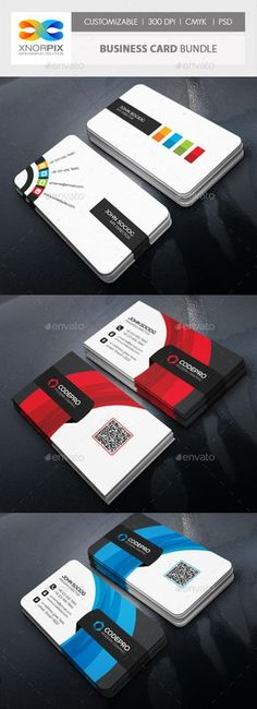 2 Business Card Templates PSD