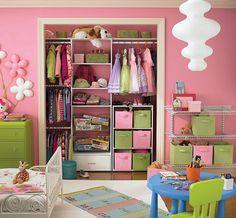 organização de armário infantil