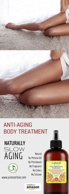 I am a 48-year-old woman. I have noticed the skin on my legs are dry, flaky, a little creepy and wrinkly. It seems like it happens in the past year. I work out every day and do weight training. I was always so proud to show off my legs. This anti-aging body treatment it makes my legs it looks healthy, shiny and it works immediately. Within 2 days of applying this body serum to my legs, the dry skin disappeared, the crepey and wrinkles are less notice and my skin color is beautiful!