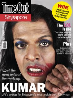 April 2015 - Life's a drag for Singapore's most celebrated funnyman