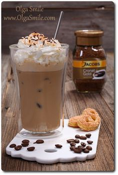 Smoothie Drinks, Fruit Smoothies, Coffe Recipes, Delicious Desserts, Yummy Food, Can I Eat, Sugar Free Desserts, Polish Recipes, Latte