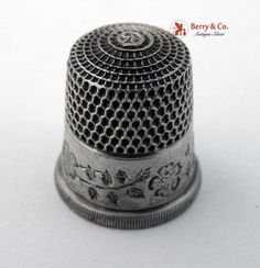 Sterling Silver Thimbles | Vintage Sterling Silver Thimble Simon Brothers 1910 by BerrysGems...