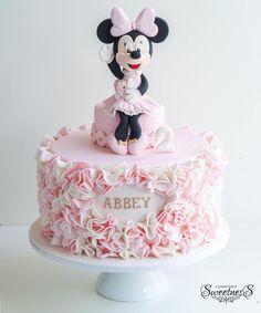 Pink Ruffle Minnie Mouse Cake (Abbey)