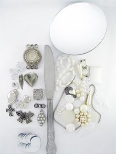 DIY Jeweled Hand Mirror Kit Time For Romance by MarilyndaGallery