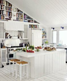 The Cottage Market: 50 Plus White Kitchens