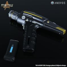 Star Trek: Discovery Starfleet Phaser Pistol Interactive Prop Replica - Click Image to Close Fiction Movies, Sci Fi Movies, Science Fiction, Star Trek Phaser, Star Trek Starships, Sci Fi Weapons, Weapons Guns, Concept Weapons, Star Trek Images