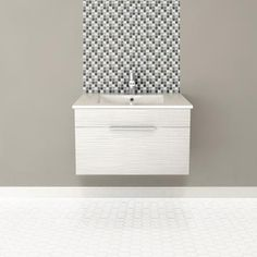 Cutler Kitchen U0026 Bath   Textures Collection Wall Hung 30 Inch Contour White    FV CW30