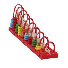 Holz Rechenrahmen Mathematik Abakus Mathematik Spielzeug Rechenspiel | eBay