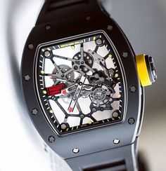 Richard Mille RM035 Americas. Bezel made from black TZP ceramic and blasted for a matte effect.