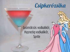 """Sleep Cycle"" - kinky, hypnotiq and sprite Cocktails by Cody Disney Cocktails, Cocktail Disney, Disney Themed Drinks, Disney Mixed Drinks, Disney Alcoholic Drinks, Disney Dinner, Party Drinks, Cocktail Drinks, Fun Drinks"