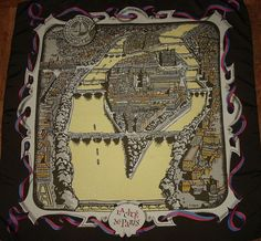 58d235312462 EXTRAORDINARY AND RARE SCARF FOR COLLECTORS HERMES Paris CITY OF PARIS  created and signed by Pierre