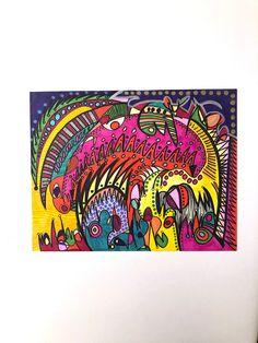 Abstract Art-Abstract Colorful-Art-Abstract Art-Abstract Wall Art- Art Gift-Home Decor-Abstract Decoration -Art Abstract Drawings, Colorful Drawings, Abstract Wall Art, Black And White Drawing, Handmade Items, Handmade Gifts, Art Art, Contemporary Art, My Etsy Shop