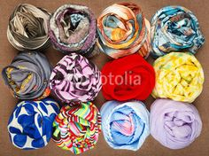 Scarf. Set of different accessories.