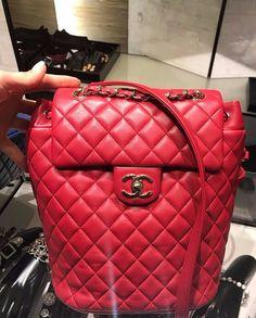 NIB NWT 100% authentic Chanel Urban Spirit Lambskin Backpack medium red $1500.0
