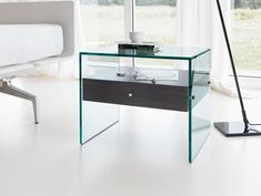 Furniture:Cool Bedside Tables For Lamp Stand Or Shelves Amazing Clear Glass Bedside Table Complete With Single Drawers